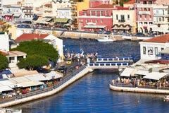Agios Nikolaos quay Royalty Free Stock Image