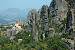 Agios Nikolaos rock monastery,Greece. Meteora Royalty Free Stock Photos