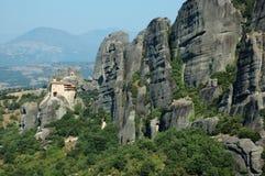 Agios Nikolaos rock monastery,Greece. Meteora Royalty Free Stock Photos