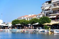 Agios Nikolaos schronienie, Crete Fotografia Royalty Free