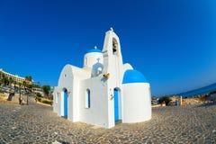 Agios Nikolaos (St Nicholas kościół), Protaras, Cypr Zdjęcia Royalty Free
