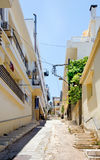 Agios Nikolaos street, Crete, Greece Royalty Free Stock Photo