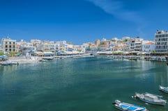 Agios Nikolaos w Crete Obrazy Stock