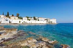 Agios Nikolaos w Spetses wyspie, Grecja Zdjęcie Stock