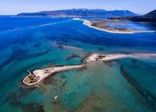 Agios Nikolaos wyspa w Lefkada Grecja Ioanian wyspach jak widzieć Zdjęcie Royalty Free