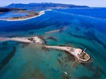 Agios Nikolaos wyspa w Lefkada Grecja Ioanian wyspach jak widzieć Zdjęcia Royalty Free