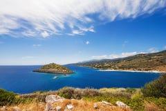 Agios Nikolaos zatoka na Zakynthos wyspie Fotografia Royalty Free