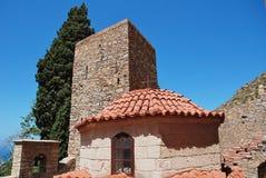 Agios Panteleimon-klooster, Tilos royalty-vrije stock afbeeldingen