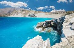 Agios Pavlos Beach in Crete island, Greece. Stock Photos