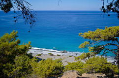 Agios Pavlos beach Royalty Free Stock Photos