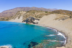 Agios Pavlos St. Paul Sandhills beach in Crete island, Greece stock photo