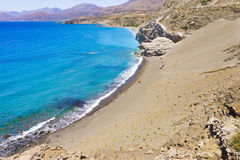 Agios Pavlos St. Paul Sandhills beach in Crete island, Greece Stock Photography