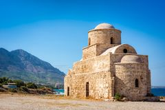 Agios Saint Evlalios Abandoned Church. Kyrenia District, Cypru Royalty Free Stock Photos