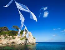 Agios Sostis in het eiland van Zakynthos stock foto