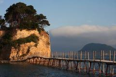 Agios Sostis in het eiland van Zakynthos royalty-vrije stock afbeelding