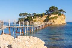 Agios Sostis, island in Greece Royalty Free Stock Photography