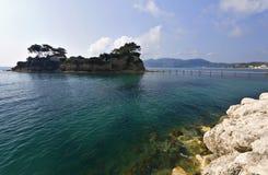 Agios Sostis isle at Zakynthos in Greece royalty free stock photography