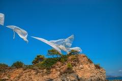 Agios Sostis, klein eiland in Griekenland, Zakynthos stock afbeelding