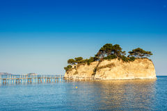 Agios Sostis, small island in Zakynthos Stock Image
