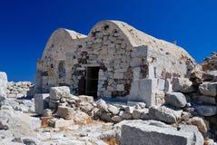 Agios Stefanos at Ancient Thira, Santorini. Agios Stefanos at Ancient Thira, byzantine church on Santorini island, from the 8th century Royalty Free Stock Photos
