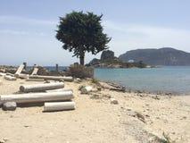 Agios stefanos beach, Kos. Agios stefanos beach in Kos, Greece Stock Images