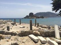 Agios stefanos beach, Kos. Agios stefanos beach in Kos, Greece Royalty Free Stock Photography