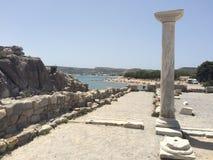 Agios stefanos beach, Kos. Agios stefanos beach in Kos, Greece Royalty Free Stock Images