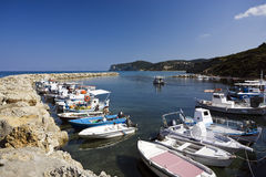 Agios Stefanos harbor, Corfu, Greece Royalty Free Stock Photos