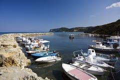 Agios Stefanos harbor, Corfu, Greece. Harbor of Agios Stefanos, Corfu Royalty Free Stock Photos