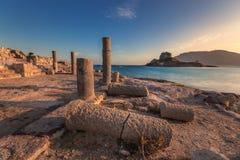 Agios Stefanos, Kastri, Kefalos, Kos Fotos de Stock Royalty Free