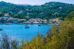 Agios Stefanos, mediterranean atmosphere, Corfu, Greece. Agios Stefanos, mediterranean atmosphere Corfu Greece Stock Photo