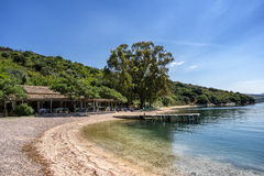 Agios Stefanos. Is small tourist resort on the north east coast of Corfu in the Ionian Sea of Greece Stock Images