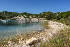 Agios Stefanos. Is small tourist resort on the north east coast of Corfu in the Ionian Sea of Greece Royalty Free Stock Images