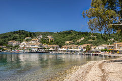 Agios Stefanos. Is small tourist resort on the north east coast of Corfu in the Ionian Sea of Greece Stock Photos