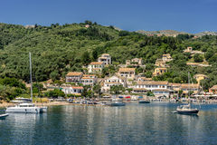 Agios Stefanos. Is small tourist resort on the north east coast of Corfu in the Ionian Sea of Greece Royalty Free Stock Photos