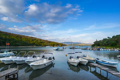 Agios Stefanos. Is small tourist resort on the north east coast of Corfu in the Ionian Sea of Greece Stock Image