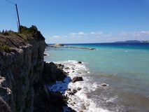 Agios Stephanous de Corfú imagen de archivo libre de regalías