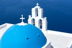 Agios Theodori Church em Fira, Santorini imagens de stock royalty free