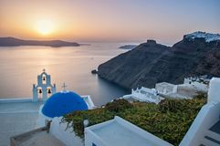 Agios Theodori Church in Fira, Santorin Stock Photography