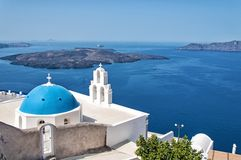 Agios Theodori Church in Fira, Santorini island Stock Images