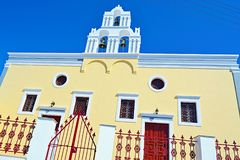 Orthodox church building Fira Santorini Greece Royalty Free Stock Images