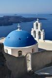 Agios Theodori Church (saint Theodore) dans Firostefani, Santorini photos libres de droits