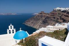 Agiou Mina Church Thira Santorini Royalty Free Stock Photos