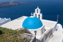 Agiou Mina Church Thira Santorini Royalty Free Stock Photography