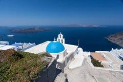 Agiou Mina Church Thira Santorini Stock Photo