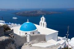 Agiou Mina Church Thira Santorini Stock Photos