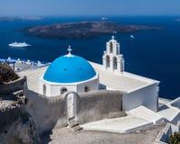 Agiou Mina Kościelny Thira Santorini Obraz Stock