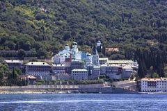 Agiou Panteleimonos monastery Royalty Free Stock Photography