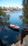 Agious Nikolaos (Heilige Nicholas Town) Royalty-vrije Stock Foto