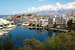 Agious Nikolaos (san Nicholas Town) immagini stock libere da diritti